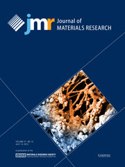 Journal of Materials Research Volume 27 - Issue 13 -