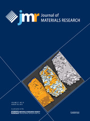 Journal of Materials Research Volume 27 - Issue 16 -