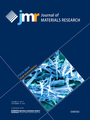 Journal of Materials Research Volume 27 - Issue 17 -  Focus Issue: Oxide Semiconductors
