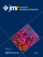 Journal of Materials Research Volume 27 - Issue 18 -