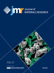 Journal of Materials Research Volume 27 - Issue 20 -