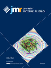 Journal of Materials Research Volume 27 - Issue 23 -
