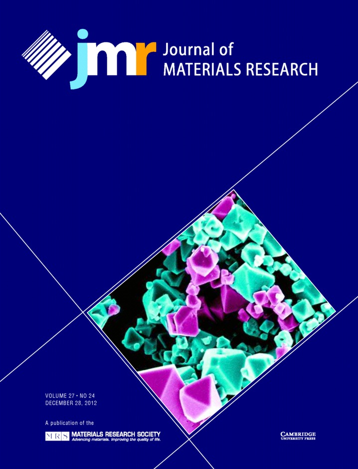 Journal of Materials Research Volume 27 - Issue 24 -
