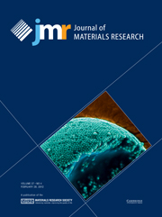 Journal of Materials Research Volume 27 - Issue 4 -