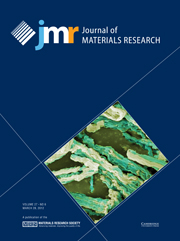 Journal of Materials Research Volume 27 - Issue 6 -