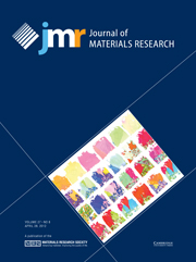 Journal of Materials Research Volume 27 - Issue 8 -