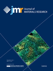 Journal of Materials Research Volume 28 - Issue 11 -