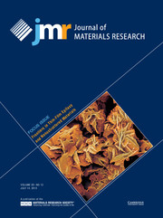Journal of Materials Research Volume 28 - Issue 13 -  FOCUS ISSUE: Frontiers in Thin-Film Epitaxy and Nanostructured Materials