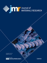 Journal of Materials Research Volume 28 - Issue 16 -