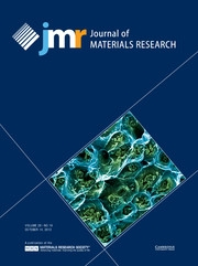 Journal of Materials Research Volume 28 - Issue 19 -
