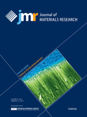 Journal of Materials Research Volume 28 - Issue 3 -  Focus Issue: Titanium Dioxide Nanomaterials