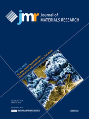 Journal of Materials Research Volume 28 - Issue 7 -  Focus Issue: De Novo Carbon Nanomaterials: Opportunities and Challenges in a Flat World