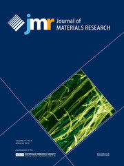 Journal of Materials Research Volume 28 - Issue 8 -