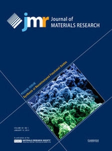 Journal of Materials Research Volume 29 - Issue 1 -  Focus Issue: Synthesis of Nanostructured Functional Oxides