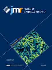 Journal of Materials Research Volume 29 - Issue 19 -  Focus Issue: Optical Ceramics Science
