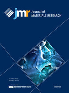 Journal of Materials Research Volume 29 - Issue 22 -