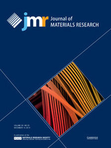 Journal of Materials Research Volume 29 - Issue 23 -