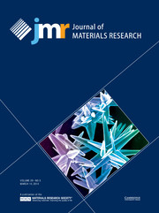 Journal of Materials Research Volume 29 - Issue 5 -