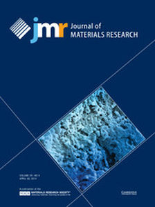 Journal of Materials Research Volume 29 - Issue 8 -