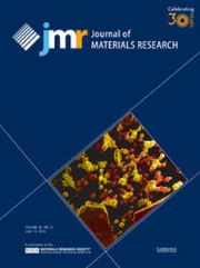Journal of Materials Research Volume 30 - Issue 13 -