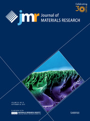 Journal of Materials Research Volume 30 - Issue 18 -