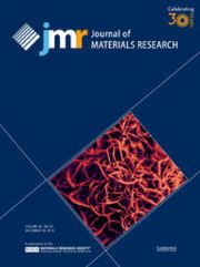 Journal of Materials Research Volume 30 - Issue 24 -