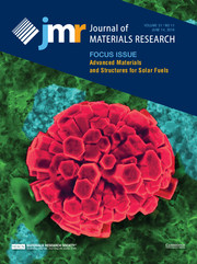 Journal of Materials Research Volume 31 - Issue 11 -  Focus Issue: Advanced Materials and Structures for Solar Fuels