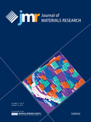 Journal of Materials Research Volume 31 - Issue 15 -