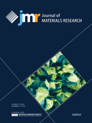 Journal of Materials Research Volume 31 - Issue 23 -