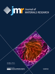 Journal of Materials Research Volume 31 - Issue 24 -