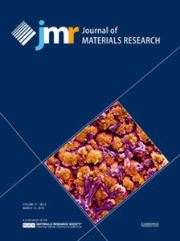 Journal of Materials Research Volume 31 - Issue 5 -