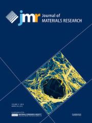Journal of Materials Research Volume 31 - Issue 6 -