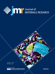 Journal of Materials Research Volume 31 - Issue 8 -