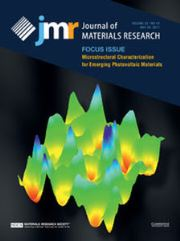 Journal of Materials Research Volume 32 - Issue 10 -  Focus Issue: Microstructural Characterization for Emerging Photovoltaic Materials