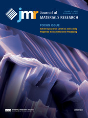 Journal of Materials Research Volume 32 - Issue 17 -  Focus Issue: Achieving Superior Ceramics and Coating Properties through Innovative Processing