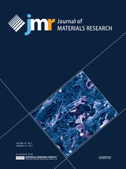Journal of Materials Research Volume 32 - Issue 2 -
