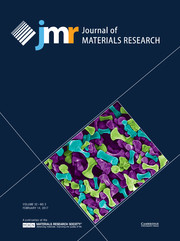 Journal of Materials Research Volume 32 - Issue 3 -