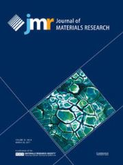 Journal of Materials Research Volume 32 - Issue 6 -