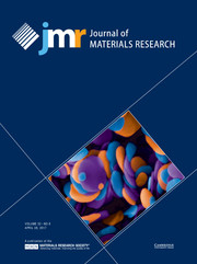 Journal of Materials Research Volume 32 - Issue 8 -