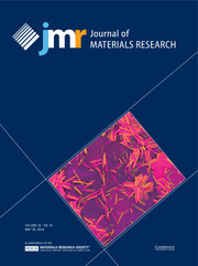 Journal of Materials Research Volume 33 - Issue 10 -