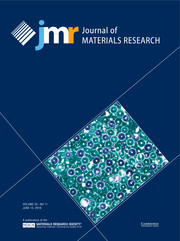 Journal of Materials Research Volume 33 - Issue 11 -