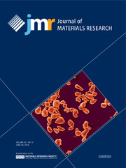 Journal of Materials Research Volume 33 - Issue 12 -