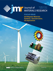 Journal of Materials Research Volume 33 - Issue 15 -  Focus Issue: Soft Magnetic Materials: Synthesis, Characterization, and Applications