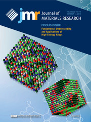 Journal of Materials Research Volume 33 - Issue 19 -  Focus Issue: Fundamental Understanding and Applications of High-Entropy Alloys