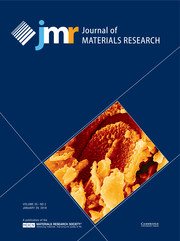 Journal of Materials Research Volume 33 - Issue 2 -