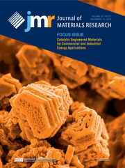Journal of Materials Research Volume 33 - Issue 21 -  Focus Issue: Catalytic Engineered Materials for Commercial and Industrial Energy Applications