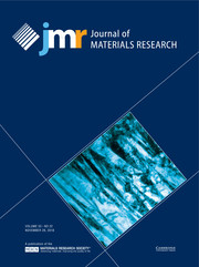Journal of Materials Research Volume 33 - Issue 22 -