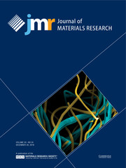 Journal of Materials Research Volume 33 - Issue 24 -