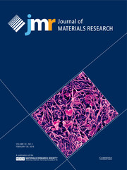 Journal of Materials Research Volume 33 - Issue 4 -