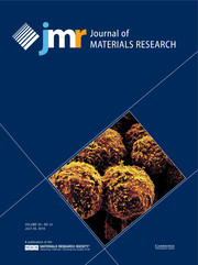 Journal of Materials Research Volume 34 - Issue 14 -